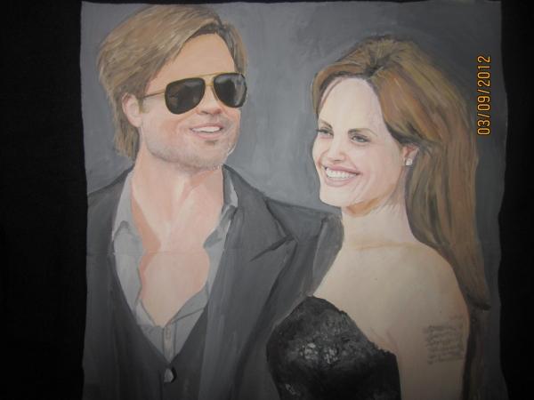 Angelina Jolie, Brad Pitt par chiki
